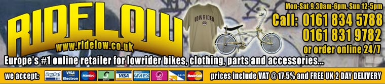 Ride Low, The No.1 UK Shop for Low Rider Bikes and Accessories